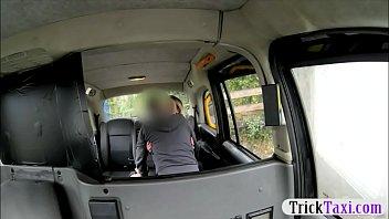 Pretty Amateur Blonde Passenger Analyzed By Fake Driver