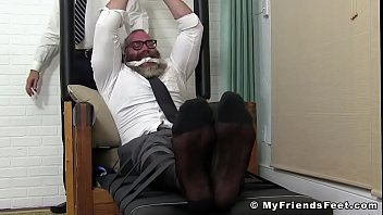 """Buff gay dude restrained to have his feet erotically teased <span class=""""duration"""">5 min</span>"""