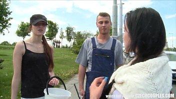 Czech Teen Convinced for Outdoor Public Sex