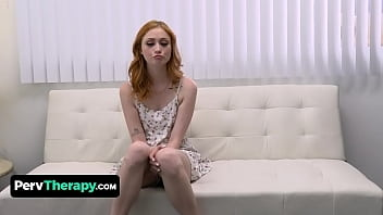 Attractive Redhead Scarlet Skies Gets A Creampie Therapy To Overcome Her Fear Of Men