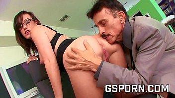 Sexy secretary caught masturbating by her boss
