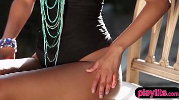 Beautiful ebony chick from Hungary sensual striptease 6 min