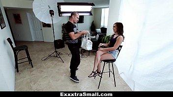 ExxxtraSmall - Tiny Brunette (Kharlie Stone) Fucked By Pervert Photographer