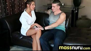 Sweetie gives a hot slippery nuru massage 23