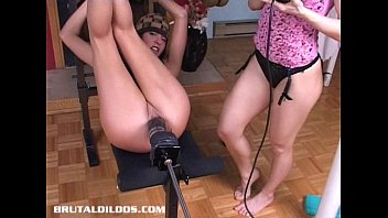 Women fucked by hard machine - Sandy pounded hard by a brutal dildo machine