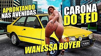 A caminho de mais um trabalho Wanessa Boyer na Carona do Ted #55 Com seu rabo gigante nas ruas - Hector Vanille