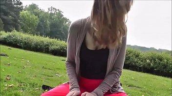 Hot girl in park
