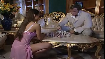 Hot Brunette Playing Chess Wants To Fuck