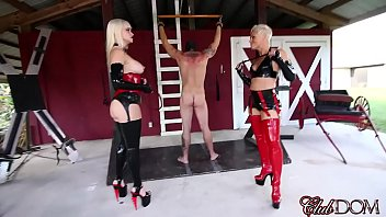 ClubDom Mistress Whip And Cane Before Milking thumbnail
