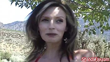 Kinky Canadian Milf Shanda Fay Plays With Huge Toy at The Lake! Vorschaubild