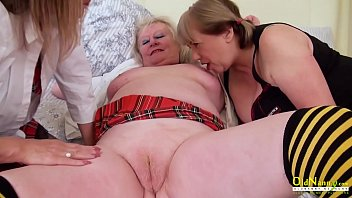 OldNannY Lesbian Mature Pussy Eating Threesome