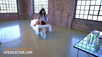 Ebony Teen Romy Indy and curvy MILF Kitana Lure in filthy massage fuck scene - Lifeselector