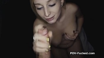 Close up sex tape with busty blonde girlfriend