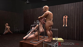 Island. Part 3. Two Black Men And Midget Fuck Young Sex Slaves In The Basement.