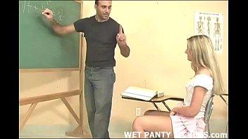 Schoolgirls Panties Get Wet During Class