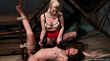 Blonde wife whipping Asian masseuse