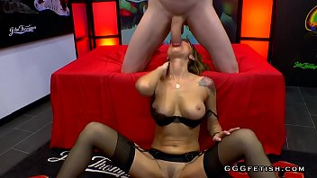 Doggiestyle anal with facial on busty elen million