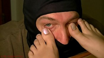 Kitty Toe in Eye 1 - At My Neighbors Feet
