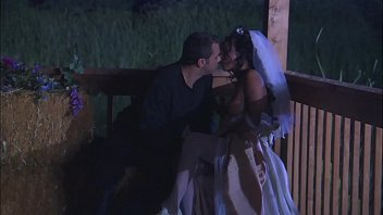 Bride interracial - The ebony bride with firm body takes the most cum on her belly and back hard