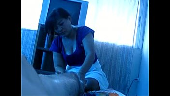 Asian masseuse jerk me off for big load!