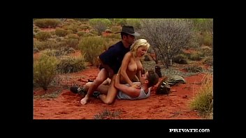 Motorcycle hat and vintage - Gabriella bond has an anal threesome in the desert