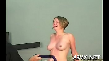 Hot female fucked and stimulated in extraordinary slavery
