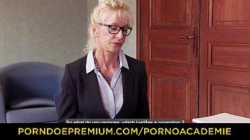 PORNO ACADEMIE - Lustful French teacher Marina Beaulieu ass & pussy fucked hard in threeway Vorschaubild