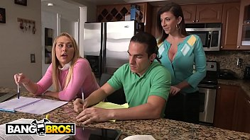 Mom sexy home videos Bangbros - stepmom sara jay and daughter carter cruise threesome