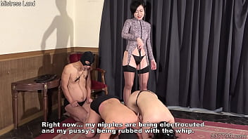 Japanese mistress Minami trains two men and a woman 2 min