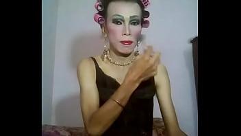 Makeup black dress