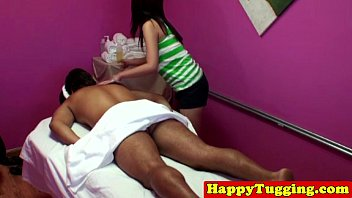 Real korean masseuse in tug job session 8 min
