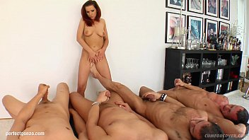 Lia In A Many Guy Facial Cumshot Blowjob Scene From Cum For Cover