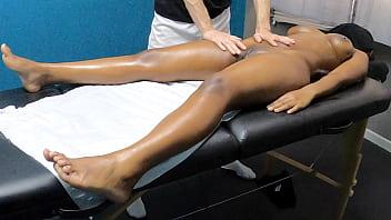 sexy black gets pussy massage hidden cam