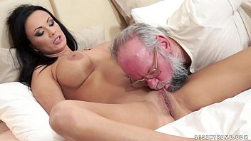 Brunette busty older Busty samantha rebeka fucked by an old gentleman