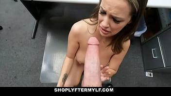 Pervy security officer banging Sofi Ryans sweet muff so hard