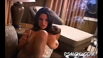 Naked woman is sex-toy her ass with a sextoy