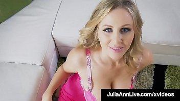 Hot Busty Cougar Julia Ann Mouth Fucks A Hard Cock!