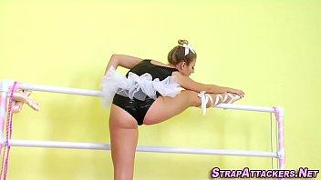 Ballerina strapon fucked