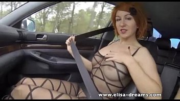 Elisa dushku nude Flashing and anal sex in the highway