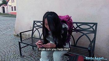 Public Agent Stranded Thai Facialised by Stranger 8 min