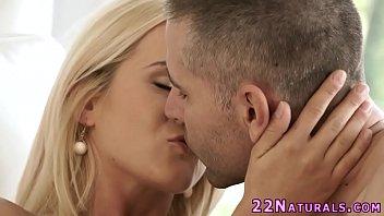 Blondie tugging lover