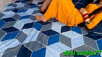 Desi savita first time full indian yellow punjabi dress fucking on bed