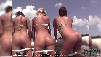 Naked party location Rented pontoon partycove