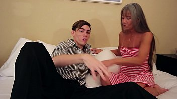 Old MILF Fucks Son Because of Blackmail thumbnail
