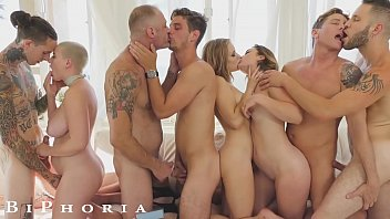 Bisexual big dick Biphoria - bisexual couple turns party into wild orgy