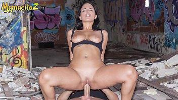 MAMACITAZ - #Claudia Bavel - Spanish Big Ass Brunette Fucks With Her Big Cock Boyfriend Outdoor