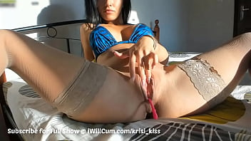 MILF Morning Time Pantyhose Squirting Pussy Action Before Work