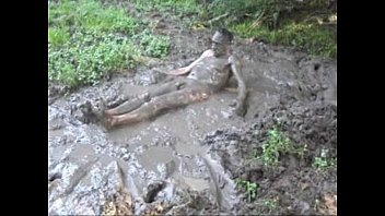 naked in the mud