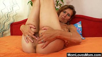 Skinny amateur mom toys hairy pussy preview image