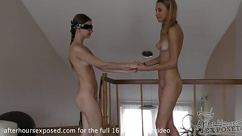 19yo Amanda Blindfolds Ieva And Fucks Her Hard With A Double Ended Dildo